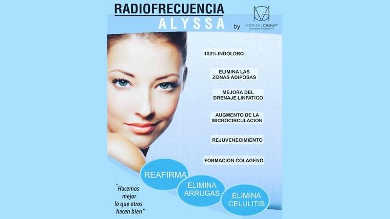 Aparatología estética: Radiofrecuencia Alyssa, rejuvenecimiento y reafirmación